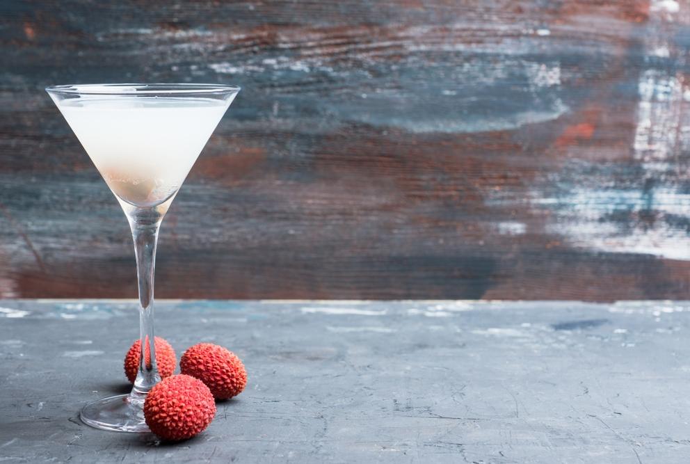 a lychee martini